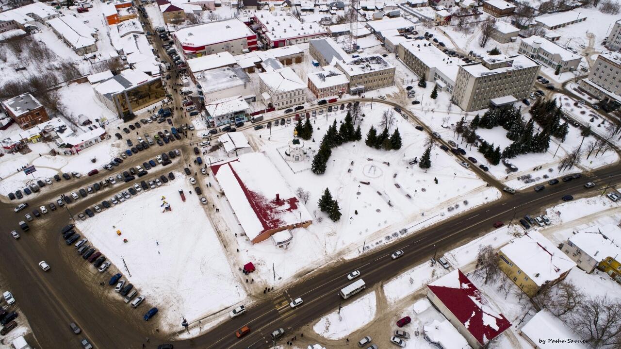 Центр города с высоты птичьего полёта