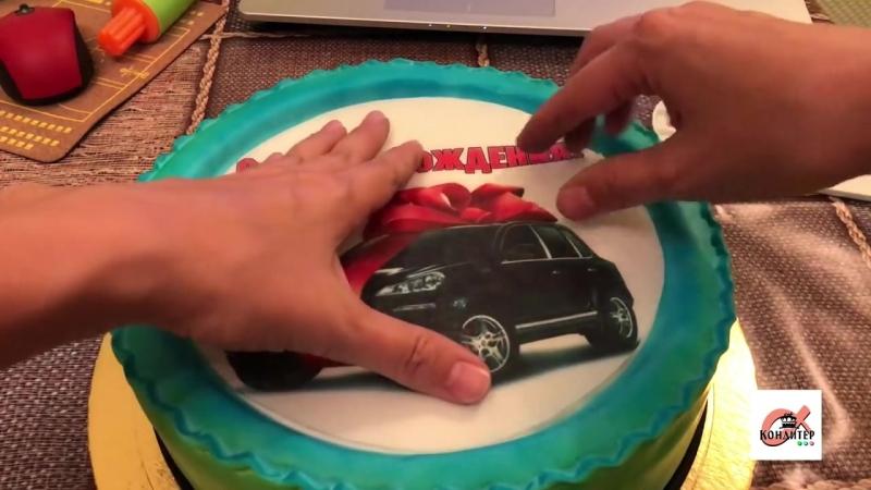 Как приклеить съедобную картинку на торт Как приклеивать вафельные и сахарные картинки на торт