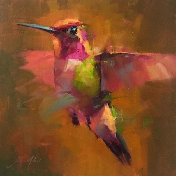 Запечатлеть птицу в полете с помощью камеры довольно сложно, но британскому художнику Джамелю Акибу удается сделать это с помощью масляных красок