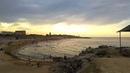 Городской пляж № 1 г.Каспийска и дома по ул.Халилова с высокого берега, июнь 2019   Каспийское море