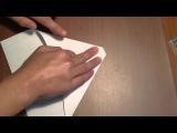Как сделать самолёт из бумаги (оригами)