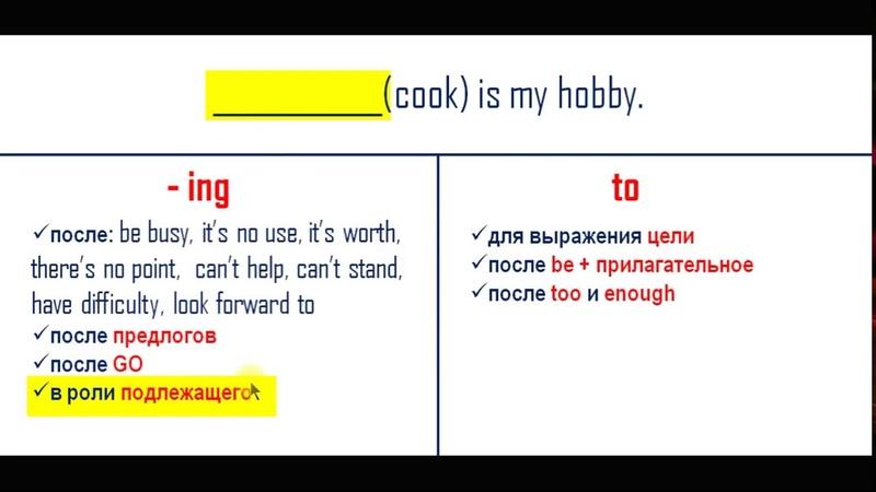 To-инфинитив, ing-форма или инфинитив, английская грамматика, Starlight 6 класс