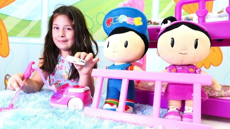 Pepee ve Şila evi dağıtıyorlar Evcilik eğitici oyunları