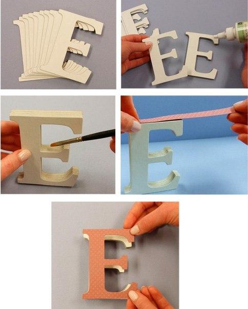 Буквы на стену из картона своими руками