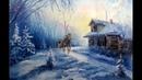 🎨 Landschaftsmalerei in Öl / Ölgemälde / Winter / Künstler Aleksandr Grigorev