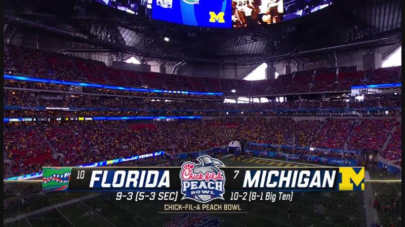 NCAAF 2018 / Peach Bowl / (10) Florida Gators - (7) Michigan Wolverines / 2H / EN