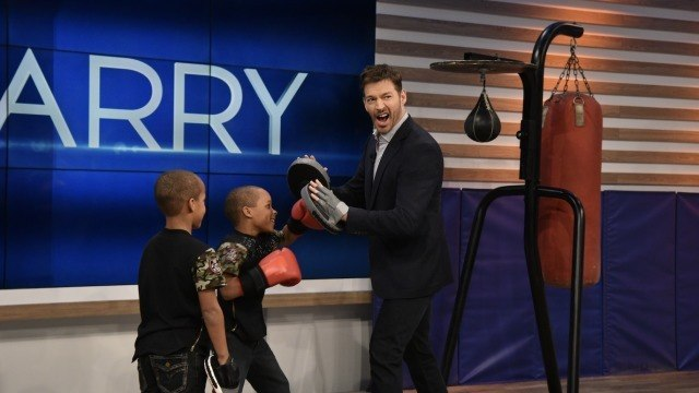 """Harry Connick Jr on Instagram """"9-year-old twin boxing prodigies Steven and Danny Grandy teach Harry some moves! HarryTV"""""""