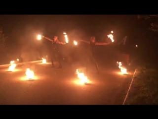 Огненное шоу в Лесном