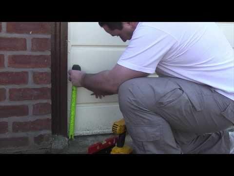 How to install garage door bolts