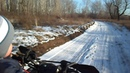 Глеб, 3.5 года. Покатушки на квадроцикле по зимнему лесу.