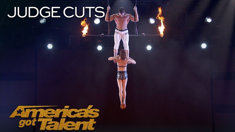 Duo Transcend Dangerous Trapeze Act Goes Wrong - Americas Got Talent 2018
