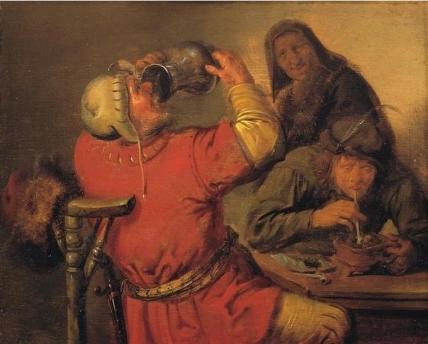 Серия работ «Пять чувств» нидерландского художника Ян Минсе Моленар, 1637