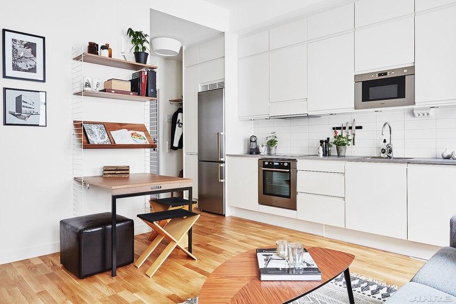 Квартира-студия 34 м в крупном шведском городе.
