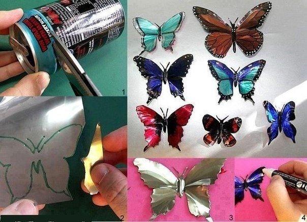 Сделать бабочки для дизайна своими руками 17