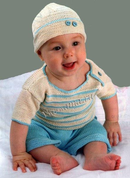 Koкомплект спицами для мальчика (2 фото) - картинка