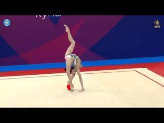 Лала Крамаренко - мяч (командное многоборье) // Sofia Cup 2019