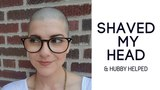 HUSBAND (helps) WIFE SHAVE HEAD over Facebook Live