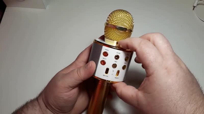 Микрофон Karaoke. Bluetooth. WS858.