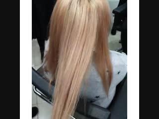 Как с помощью техники Volume hair можно освежить блонд и добавить рельефа🤓☝️ #студентымиллерлучшие выполняли данную работу👩🎨👩