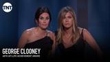 Jennifer Aniston &amp Courteney Cox Toast George Clooney AFI 2018 TNT