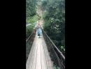 Чечня, висячий мост из села Дуба-Юрт