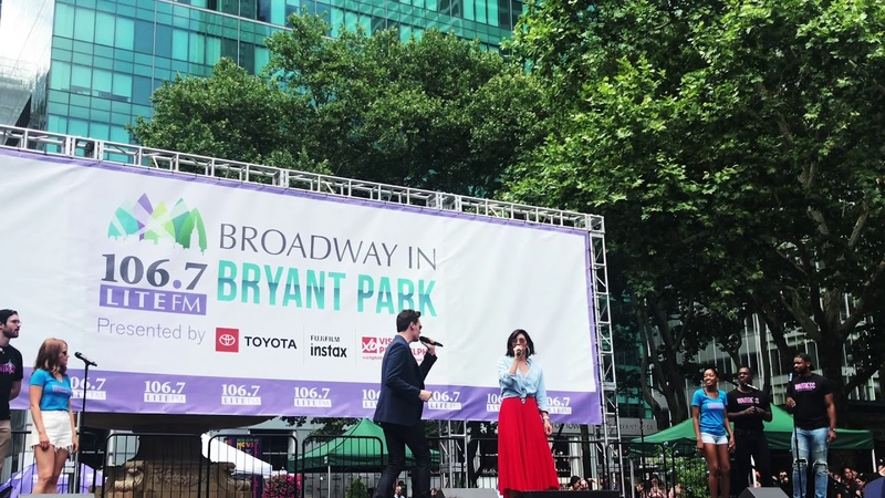 Katharine McPhee and Erich Bergen Sing Bad Idea Live at Broadway in Bryant Park