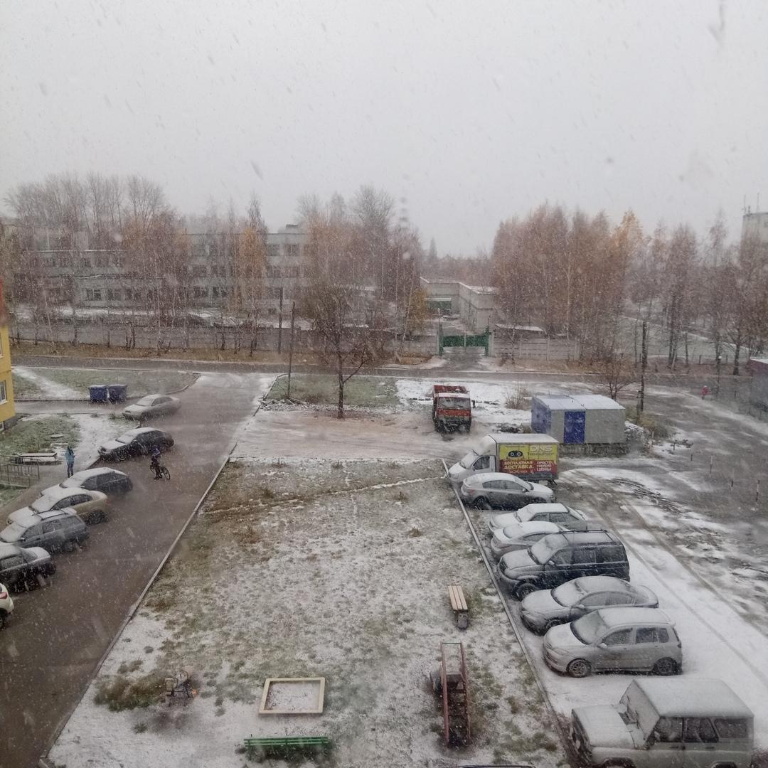 Ульяновск первый снег 2018