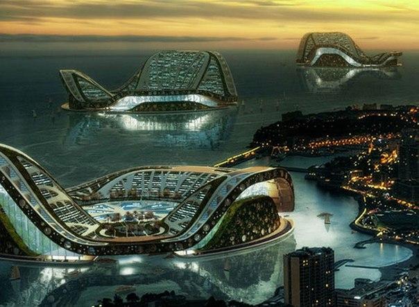 Концепция плавучего города будущего
