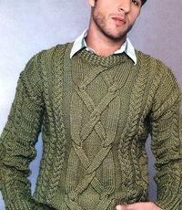 Журнал схемы вязания мужских свитеров