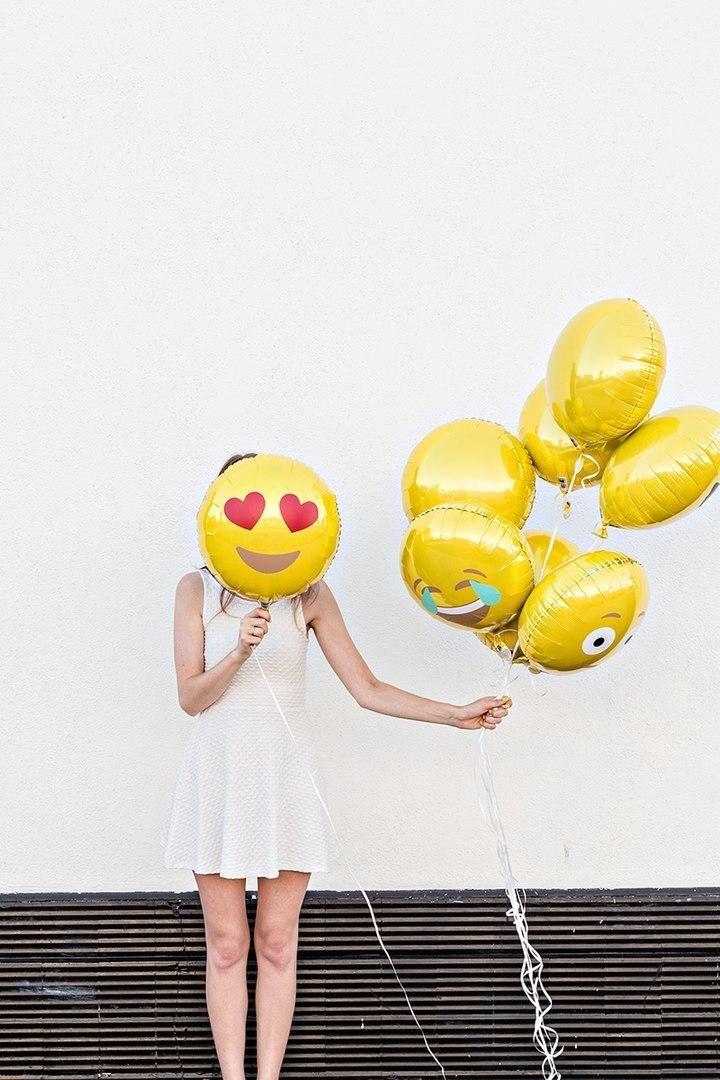 Воздушные шары Emoji -