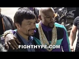 (EPIC!) MAYWEATHER AND PACQUIAO REUNITE, TAKE PIC AFTER SPENCE DOMINATES GARCIA &amp CALLS OUT MANNY