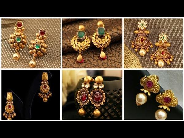 Latest gold earrings designs/ Gold Earrings 👂