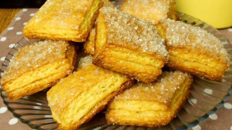Мое любимое слоеное печенье. Попробуйте,как вкусно!