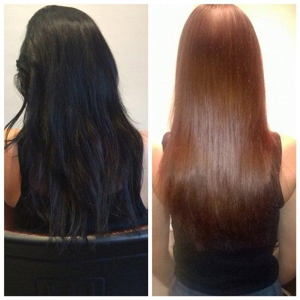 Как сделать смывку для темных волос 493
