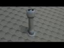 Монтаж вентиляционного выхода Vilpe на гибкую черепицу