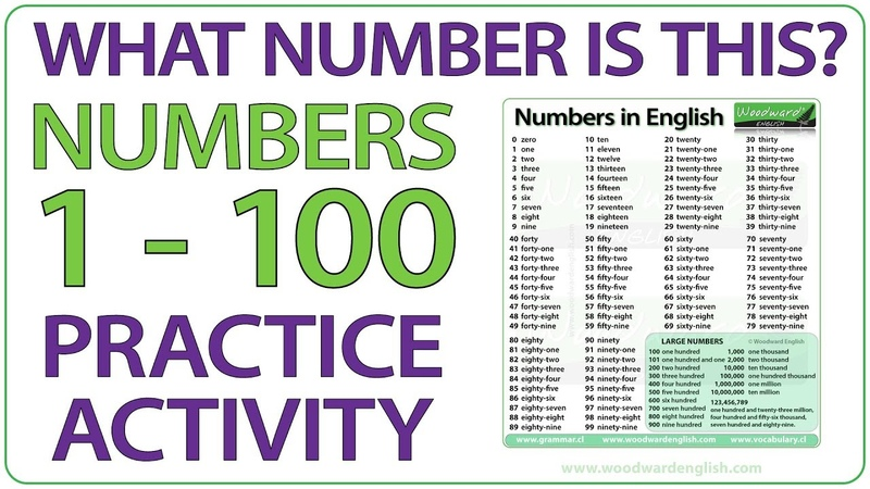 What number is this Numbers 1-100 English practice activity