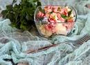 Салат из цветной капусты и брокколи с яйцом