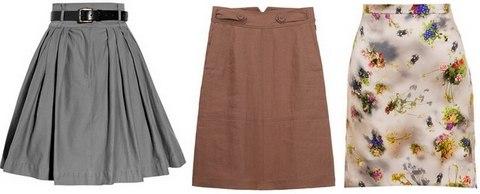 Расширяющаяся книзу юбка