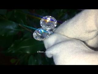 Серьги с кристаллами от Сваровски