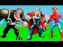 Супергерои мультфильм игра Веном против Человека Паука, и Гоблин против Тора, машинки ТАЧКИ Дисней