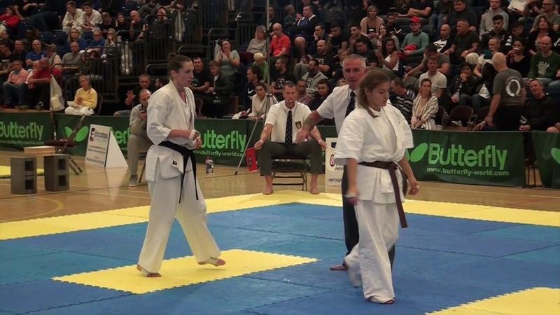 British Karate Kyokushinkai Emma Markwell v Teona Gazeliani
