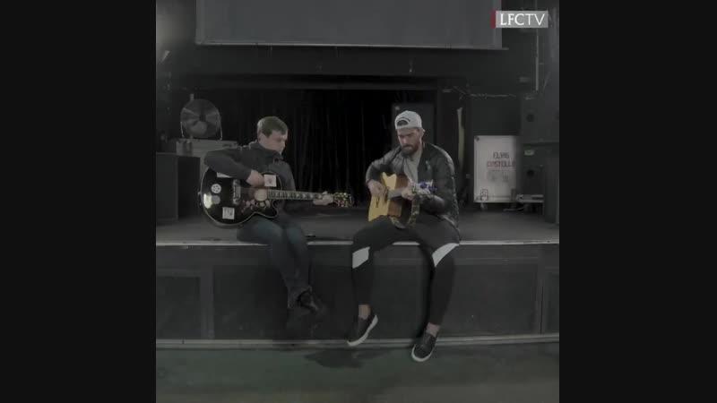 In session: Alisson Becker and Jamie Webster | Keeper sings 'Allez, Allez, Allez'