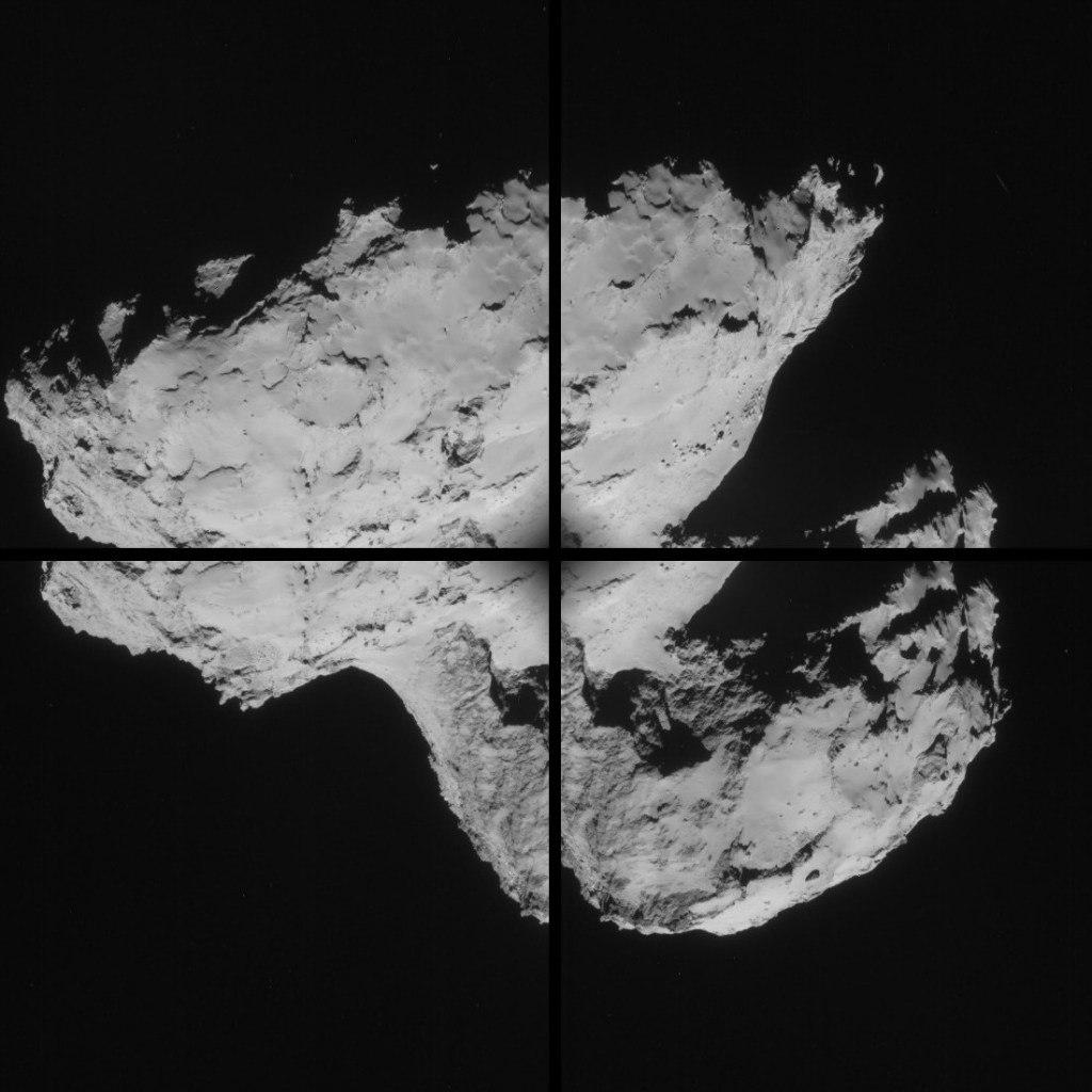 """03.09.2014 - Мозаичное изображение кометы от """"Розетты"""" SBXyYXjFKw8"""