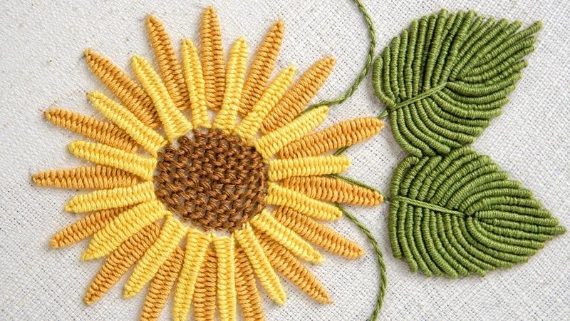 BRAZILIAN EMBROIDERY TUTORIALS: How to stitch flowers