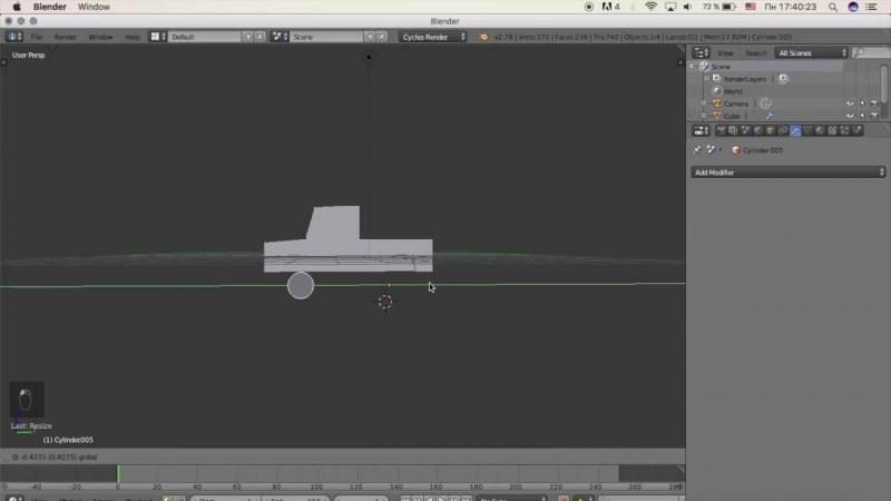 Гоша Дударь Blender 3D моделирование Урок 16 Создание пикап автомобиля