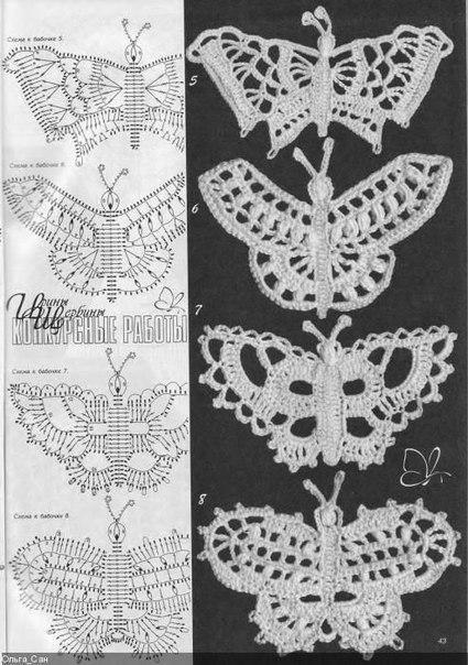钩的装饰品蝴蝶 - maomao - 我随心动
