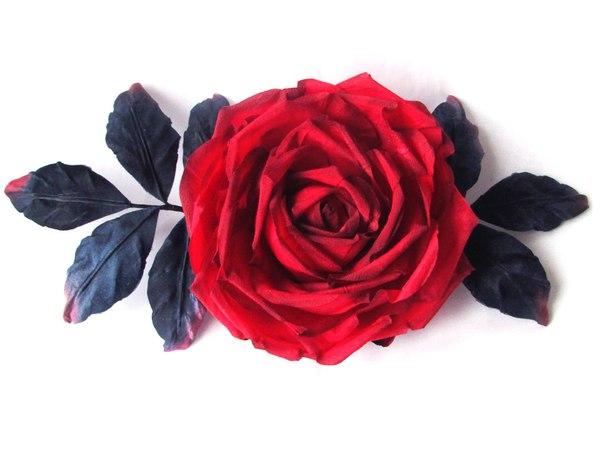 Роза Фламенко — брошь для любительницы Испании и страстного фламенко… (2 фото)