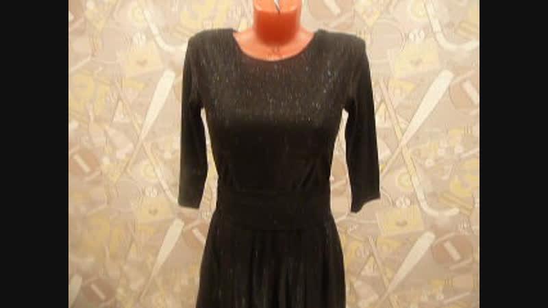 черное платье 44р