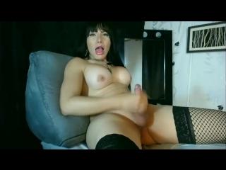 Татьяна Монтоя вызвала взрыв спермы из своей пипирки - (транс, трап, ледибой мастурбация shemale tranny ladyboy cumshot)