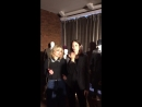 Alison Sudol and Katherine Waterston having fun